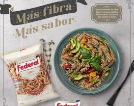 Fideos Federal: Pastas hechas con harina de trigo e integral